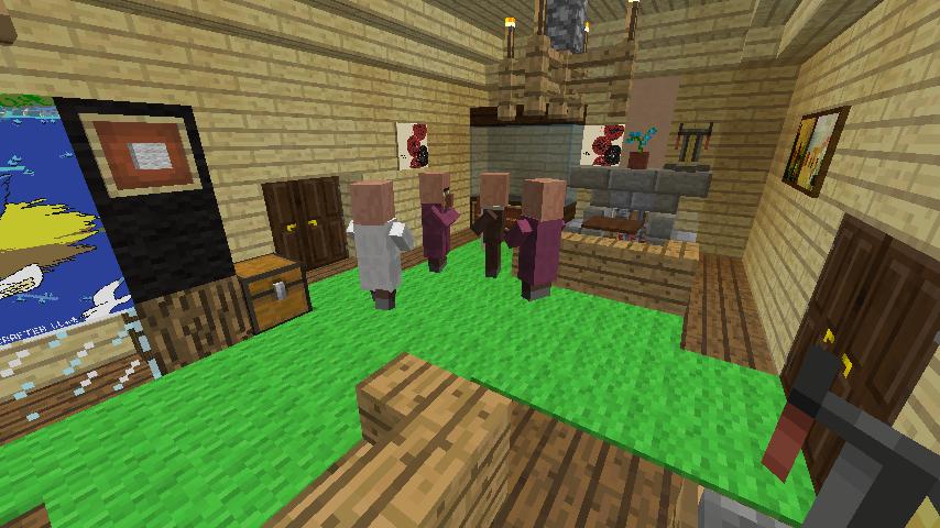 Minecrafterししゃもがマインクラフトでぷっこ村に古我邸旧荘清次郎別荘を再現し茶番を演じる7