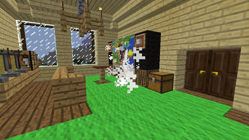 Minecrafterししゃもがマインクラフトでぷっこ村に古我邸旧荘清次郎別荘を再現し茶番を演じる9