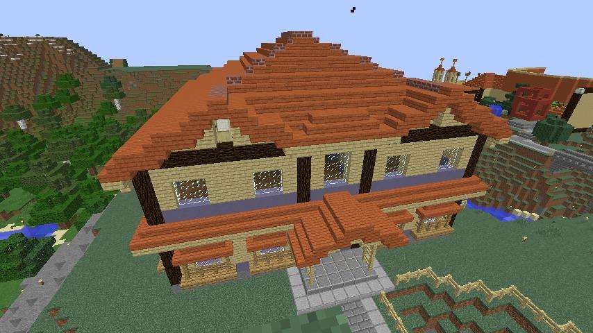 Minecrafterししゃもがマインクラフトでぷっこ村に宮崎県にある旧飯田医院をアレンジ再現した診療所を建設する7