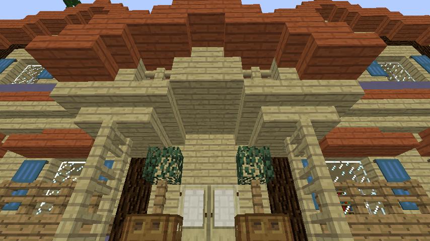Minecrafterししゃもがマインクラフトでぷっこ村に旧半田医院をアレンジ再現し茶番を演じる1