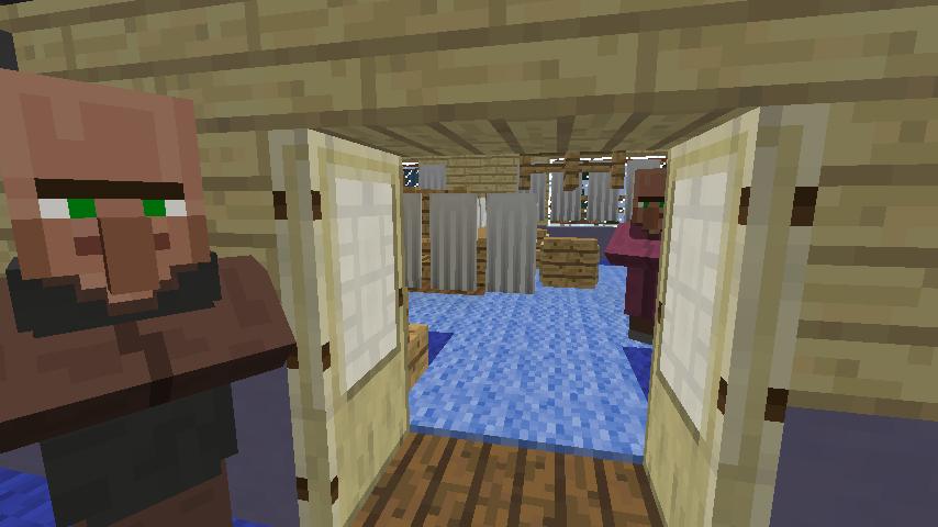 Minecrafterししゃもがマインクラフトでぷっこ村に旧半田医院をアレンジ再現し茶番を演じる6