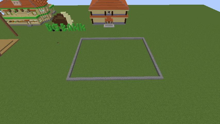 Minecrafterししゃもがマインクラフトでぷっこ村に青森銀行記念館をモデルにしたドングリーバンクを建設する3