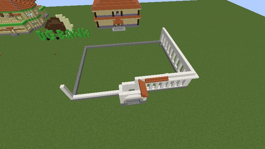 Minecrafterししゃもがマインクラフトでぷっこ村に青森銀行記念館をモデルにしたドングリーバンクを建設する4