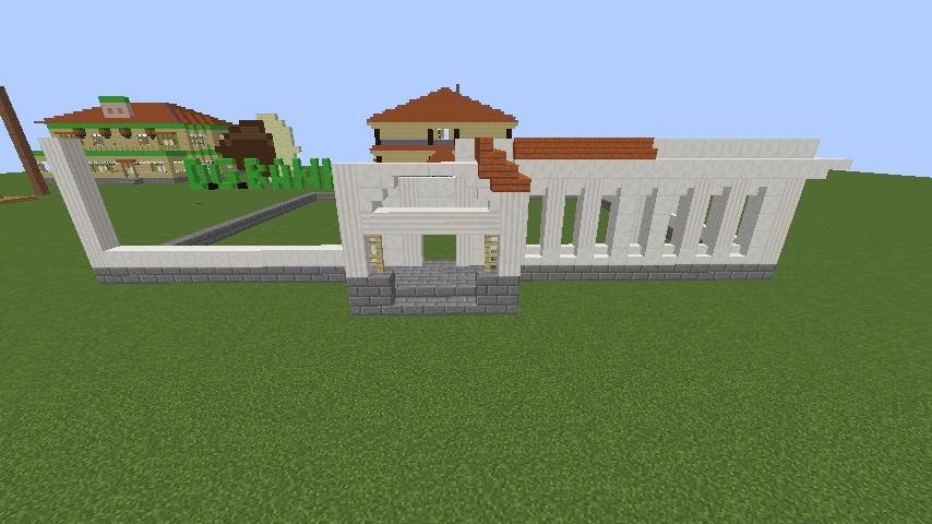 Minecrafterししゃもがマインクラフトでぷっこ村に青森銀行記念館をモデルにしたドングリーバンクを建設する5