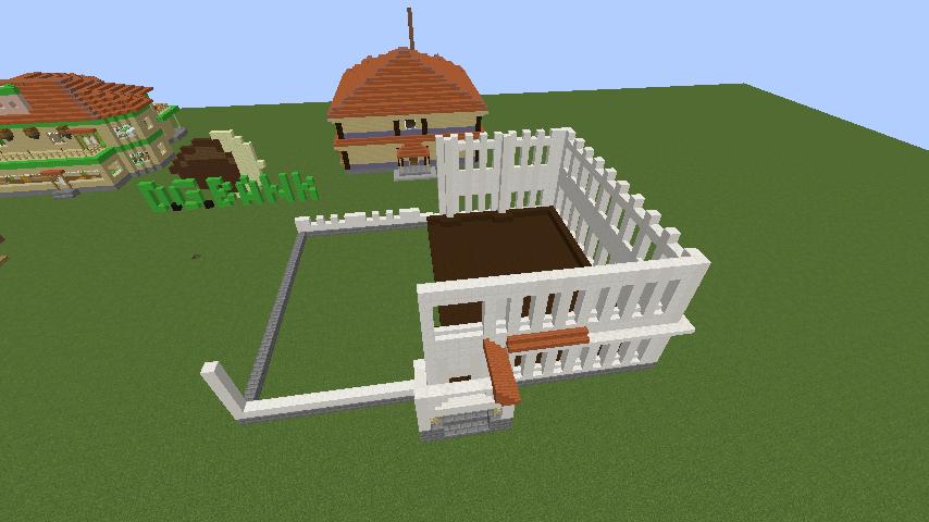 Minecrafterししゃもがマインクラフトでぷっこ村に青森銀行記念館をモデルにしたドングリーバンクを建設する6