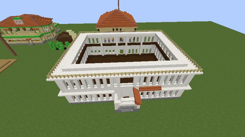 Minecrafterししゃもがマインクラフトでぷっこ村に青森銀行記念館をモデルにしたドングリーバンクを建設する7