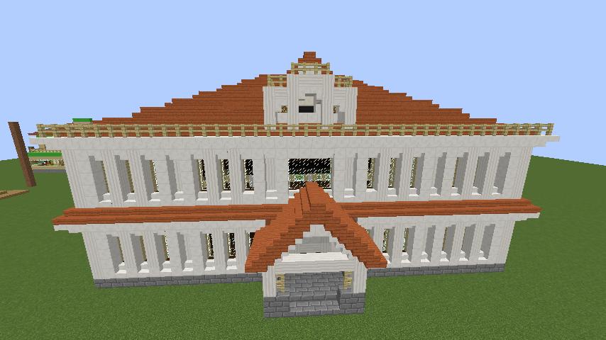 Minecrafterししゃもがマインクラフトでぷっこ村に青森銀行記念館をモデルにしたドングリーバンクを建設する10