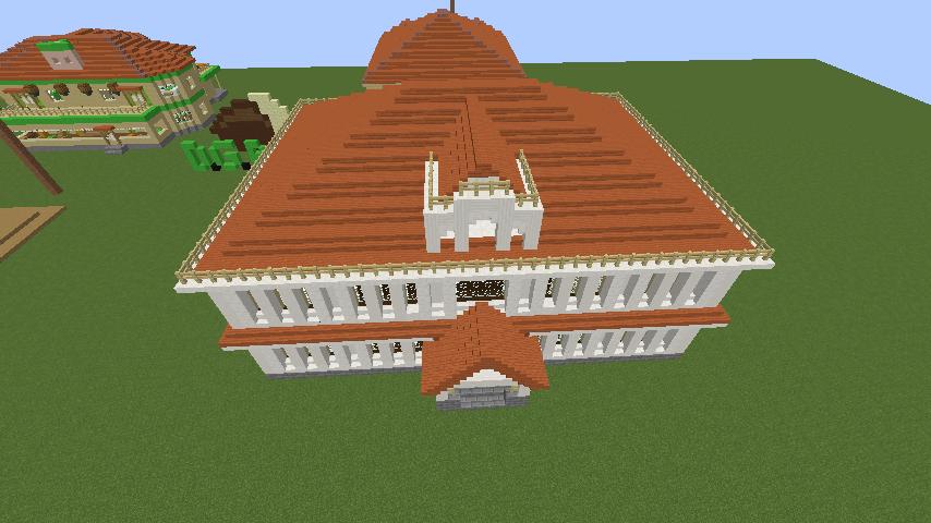 Minecrafterししゃもがマインクラフトでぷっこ村に青森銀行記念館をモデルにしたドングリーバンクを建設する11