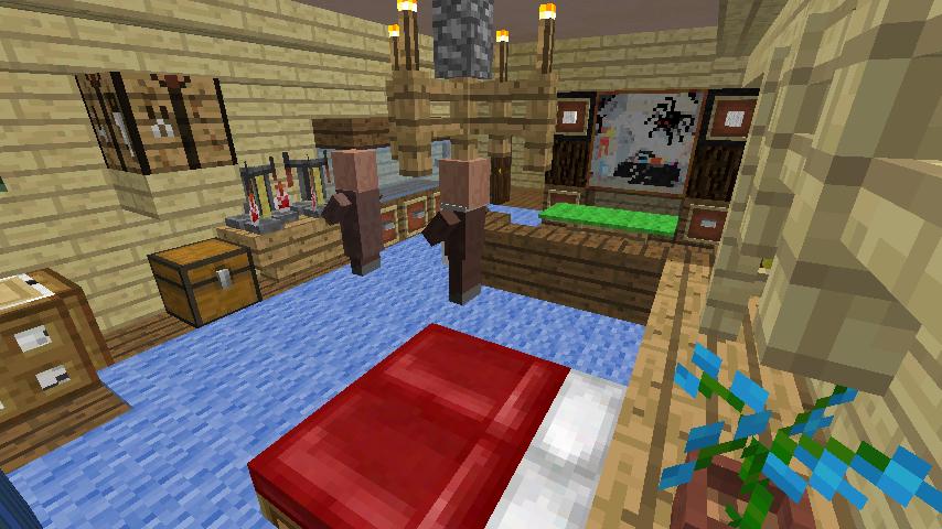 Minecrafterししゃもがマインクラフトでぷっこ村の小高い丘に洋館を建てる10