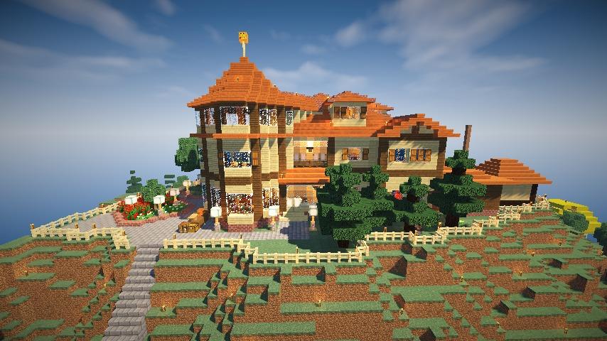 Minecrafterししゃもがマインクラフトでぷっこ村の小高い丘に洋館を建てる13