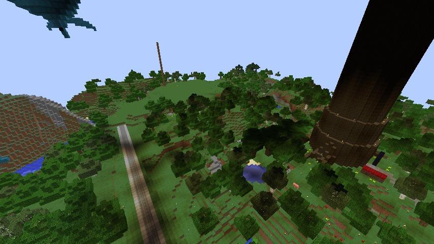 Minecrafterししゃもがマインクラフトでぷっこ村に青森銀行記念館をモデルにしたドングリーバンクを建設する1