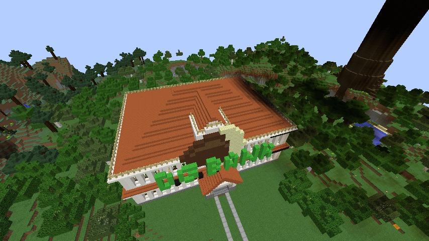 Minecrafterししゃもがマインクラフトでぷっこ村に青森銀行記念館をモデルにしたドングリーバンクを建設する13