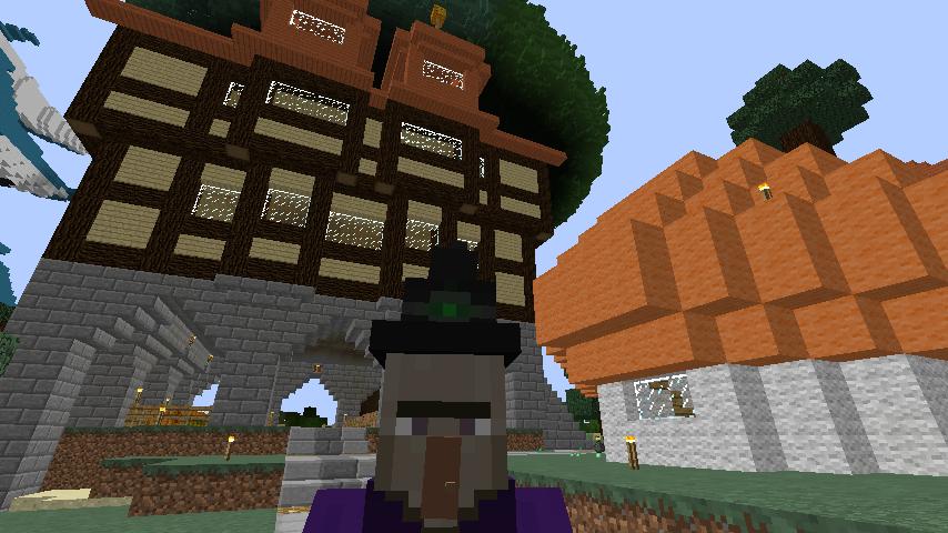 Minecrafterししゃもがマインクラフトでぷっこ村に宮崎県にある旧飯田医院をアレンジ再現した診療所を建設する1