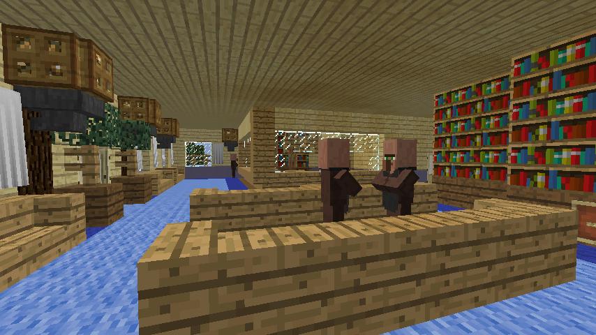 Minecrafterししゃもがマインクラフトでぷっこ村に旧半田医院をアレンジ再現し茶番を演じる4