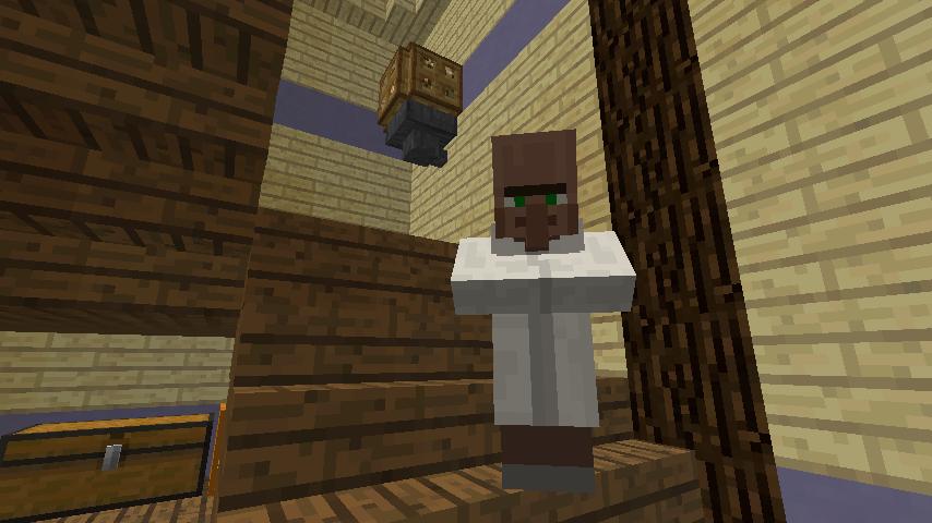 Minecrafterししゃもがマインクラフトでぷっこ村に旧半田医院をアレンジ再現し茶番を演じる9