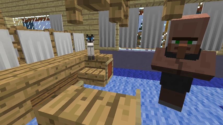Minecrafterししゃもがマインクラフトでぷっこ村に旧半田医院をアレンジ再現し茶番を演じる8