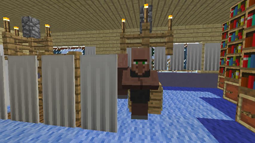 Minecrafterししゃもがマインクラフトでぷっこ村に旧半田医院をアレンジ再現し茶番を演じる7