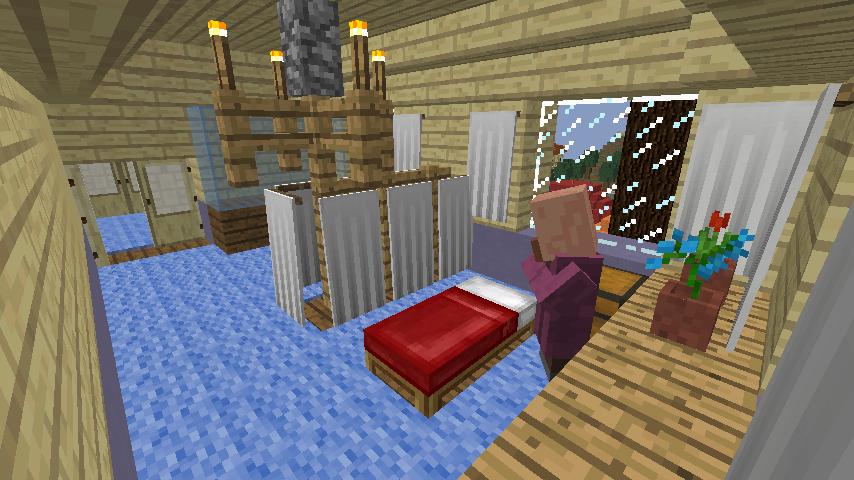 Minecrafterししゃもがマインクラフトでぷっこ村に旧半田医院をアレンジ再現し茶番を演じる14