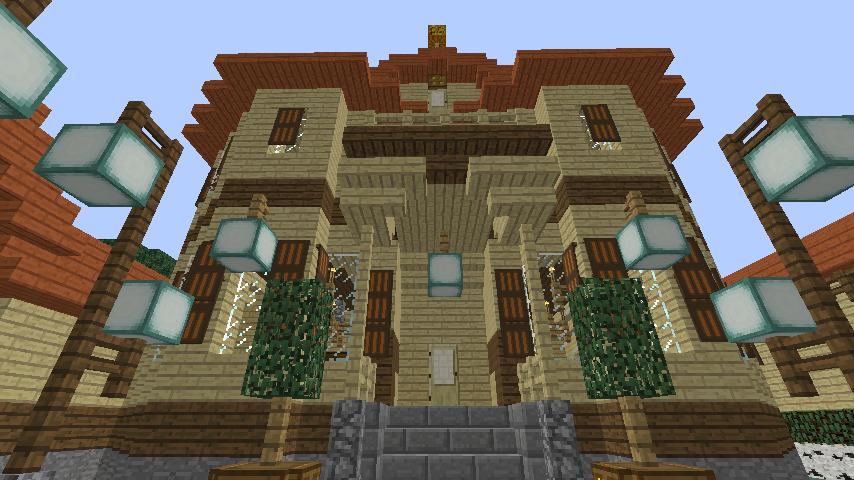 Minecrafterししゃもがマインクラフトでぷっこ村に旧木下建平邸をアレンジ再現して貸しギャラリーにする7