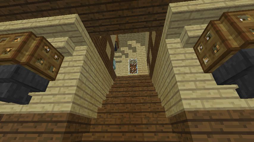 Minecrafterししゃもがマインクラフトでぷっこ村に旧木下建平邸をアレンジ再現して貸しギャラリーにする11