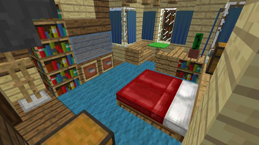 Minecrafterししゃもがマインクラフトでぷっこ村に旧木下建平邸をアレンジ再現して貸しギャラリーにする12