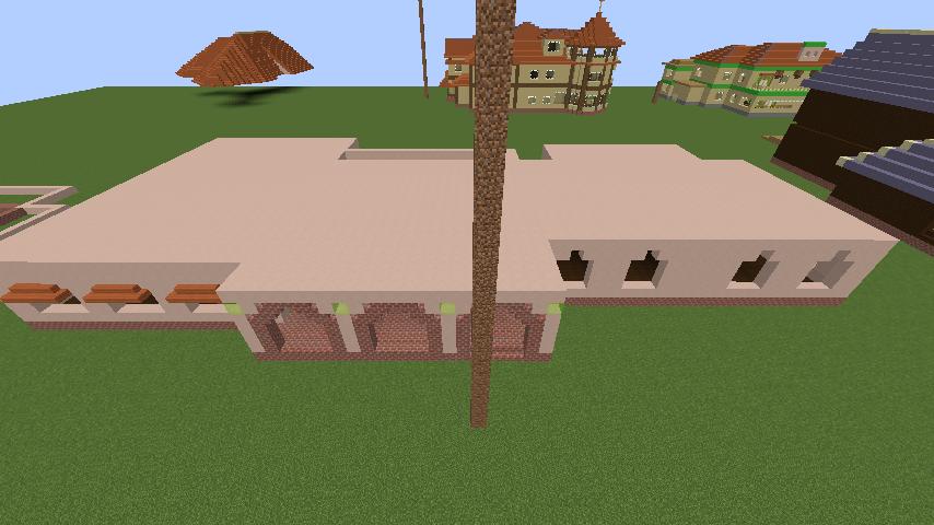 Minecrafterししゃもがマインクラフトでぷっこ村に結婚式ができるホールを作る2