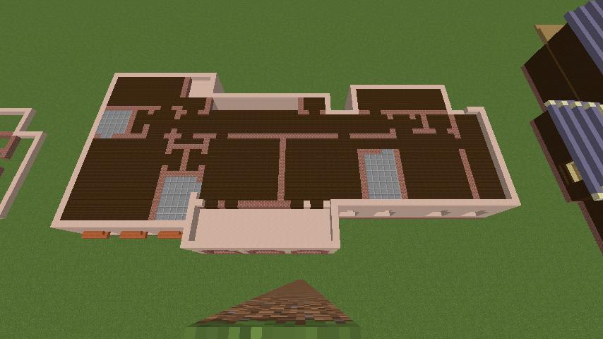 Minecrafterししゃもがマインクラフトでぷっこ村に結婚式ができるホールを作る3