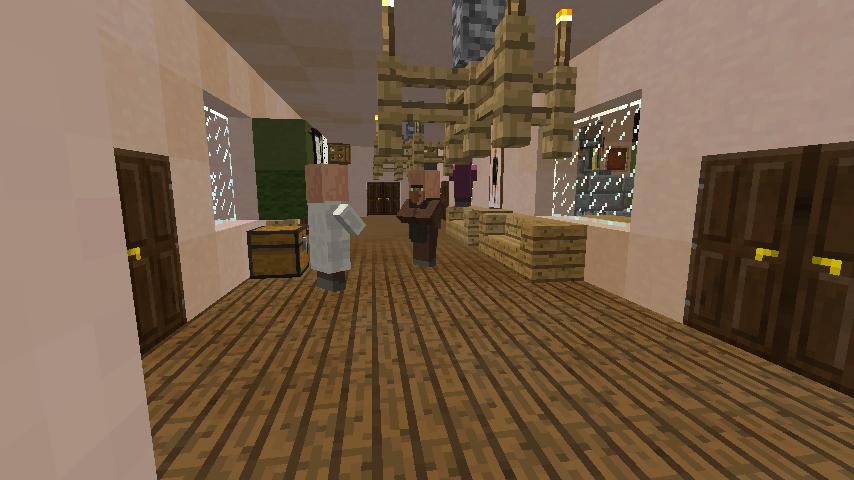 Minecrafterししゃもがマインクラフトでぷっっこ村に地図でポスターを作成して、茶番を演じる2