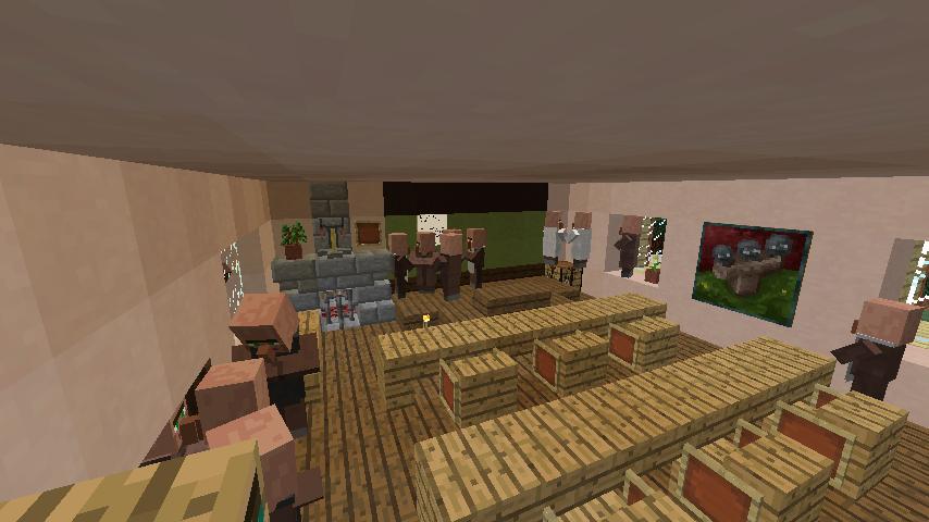 Minecrafterししゃもがマインクラフトでぷっっこ村に地図でポスターを作成して、茶番を演じる3