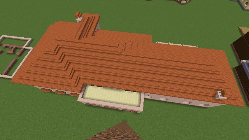 Minecrafterししゃもがマインクラフトでぷっこ村に結婚式ができるホールを作る5