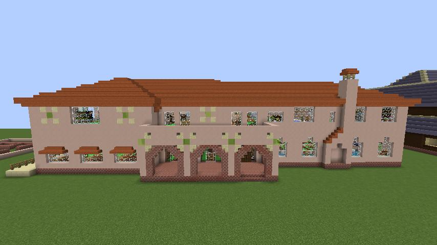 Minecrafterししゃもがマインクラフトでぷっこ村に結婚式ができるホールを作る6