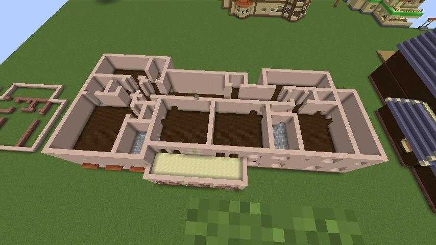 Minecrafterししゃもがマインクラフトでぷっこ村に結婚式ができるホールを作る4