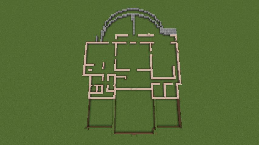 Minecrafterししゃもがマインクラフトでぷっこ村に山手111番館を再現する1