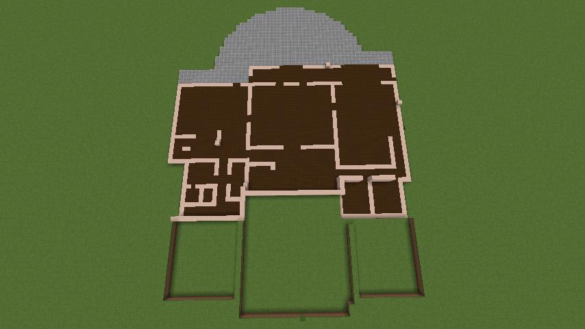 Minecrafterししゃもがマインクラフトでぷっこ村に山手111番館を再現する2