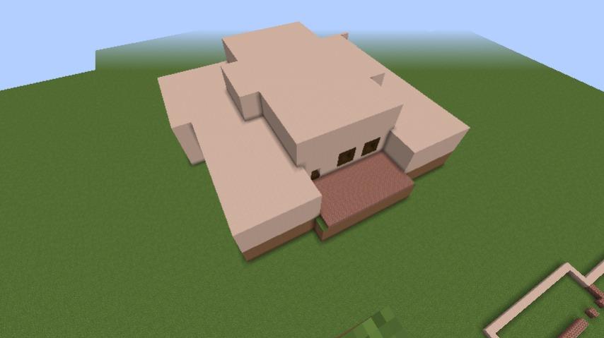 Minecrafterししゃもがマインクラフトでぷっこ村に山手111番館を再現する6