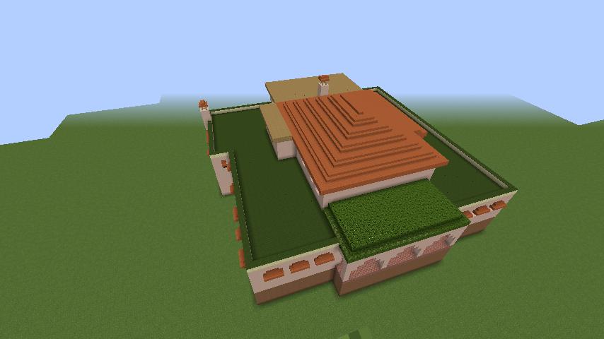 Minecrafterししゃもがマインクラフトでぷっこ村に山手111番館を再現する8