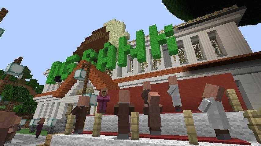 Minecrafterししゃもですがマインクラフトでぷっこ村に青森銀行記念館をモデルにしたドングリーバンクを建設する2