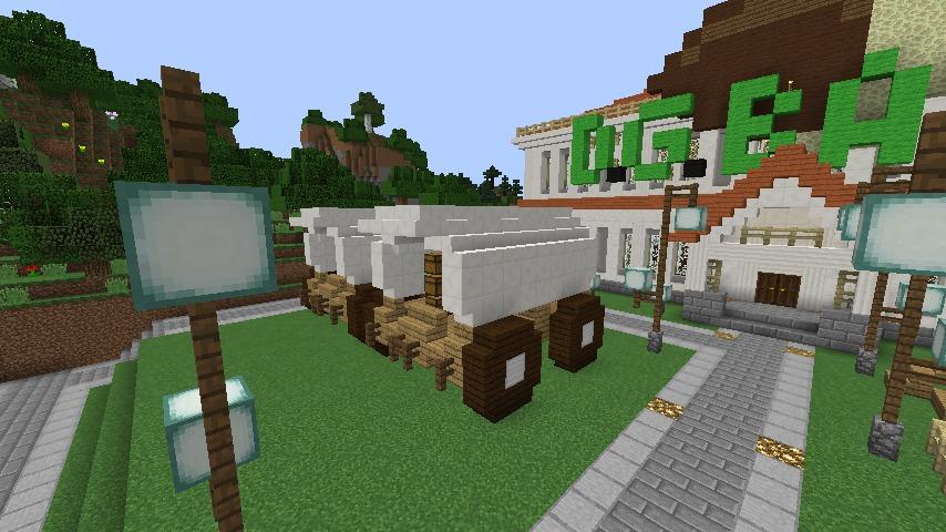 Minecrafterししゃもですがマインクラフトでぷっこ村に青森銀行記念館をモデルにしたドングリーバンクを建設する4