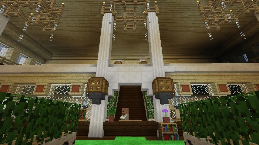 Minecrafterししゃもですがマインクラフトでぷっこ村に青森銀行記念館をモデルにしたドングリーバンクを建設する6
