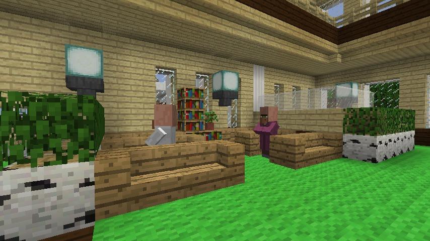Minecrafterししゃもですがマインクラフトでぷっこ村に青森銀行記念館をモデルにしたドングリーバンクを建設する8