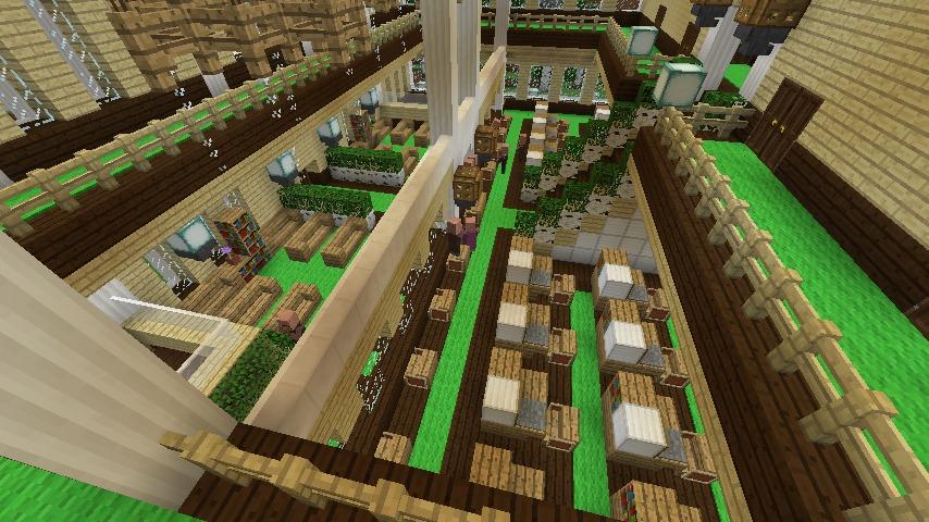 Minecrafterししゃもですがマインクラフトでぷっこ村に青森銀行記念館をモデルにしたドングリーバンクを建設する11