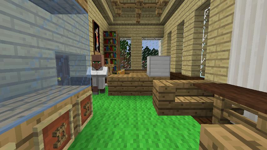 Minecrafterししゃもですがマインクラフトでぷっこ村に青森銀行記念館をモデルにしたドングリーバンクを建設する12