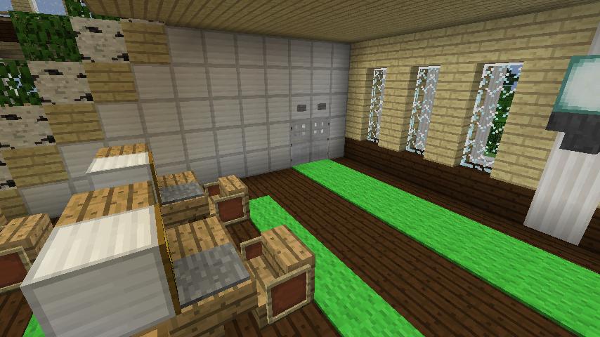 Minecrafterししゃもですがマインクラフトでぷっこ村に青森銀行記念館をモデルにしたドングリーバンクを建設する13