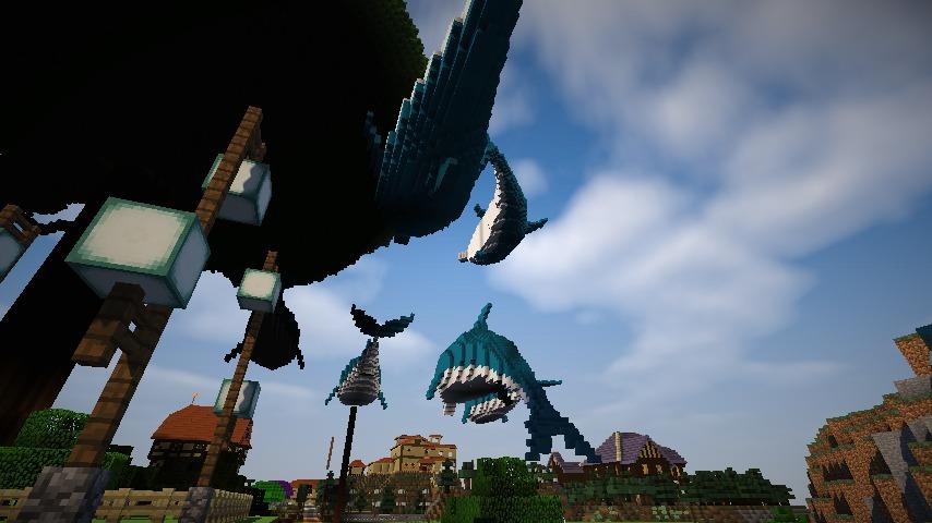 Minecrafterししゃもがマインクラフトでぷっこ村にイルカを作成して紹介する2