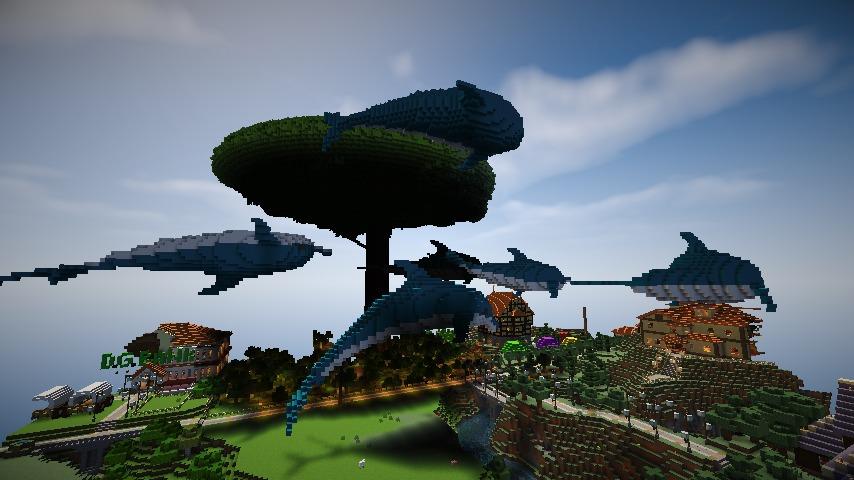 Minecrafterししゃもがマインクラフトでぷっこ村にイルカを作成して紹介する3