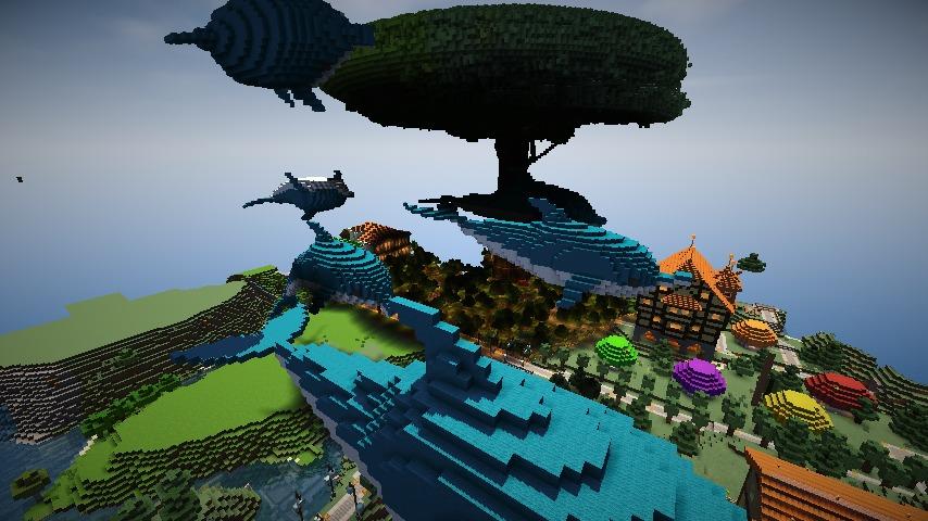 Minecrafterししゃもがマインクラフトでぷっこ村にイルカを作成して紹介する4