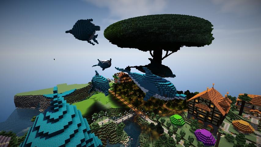 Minecrafterししゃもがマインクラフトでぷっこ村にイルカを作成して紹介する5