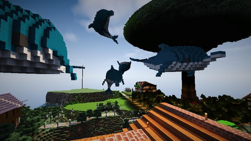 Minecrafterししゃもがマインクラフトでぷっこ村にイルカを作成して紹介する6
