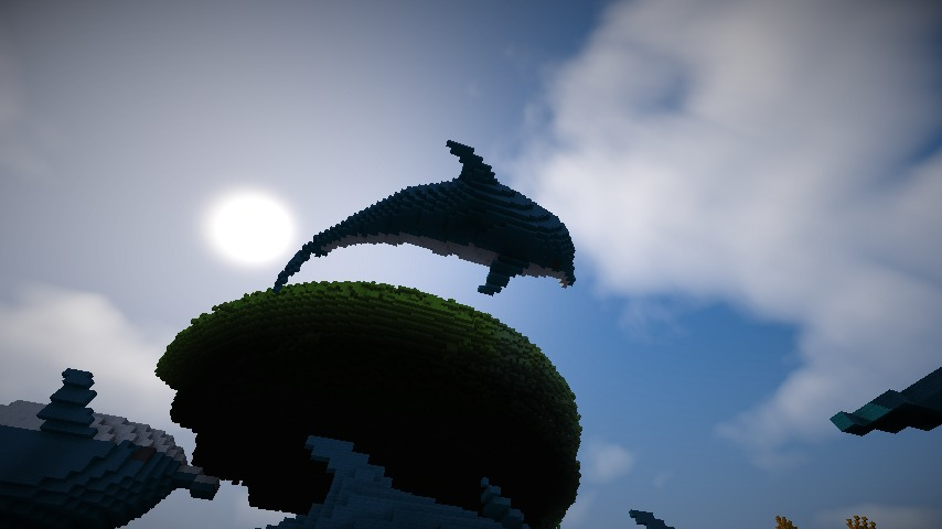 Minecrafterししゃもがマインクラフトでぷっこ村にイルカを作成して紹介する8