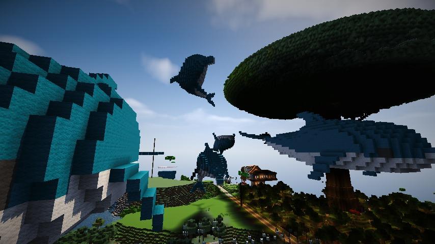 Minecrafterししゃもがマインクラフトでぷっこ村にイルカを作成して紹介する9